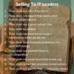 10 Commandments Of Selling To IT Leaders