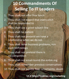 10 commandments - sell to IT leaders